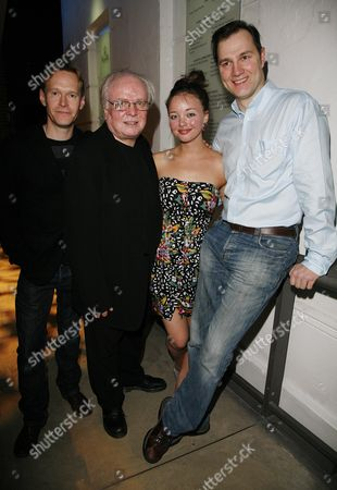 First Night of 'In A Dark Dark House' at the Almeida Theatre Islington Cast - Steven Mackintosh Kira Sternbach and David Morrissey with the Director Michael Attenborough