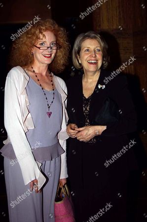First Night Party at the Atlantic Bar and Grill For 'Beautiful and Damned' Playing at the Lyric Theatre Cast Member Susannah Fellows with Anne Reid