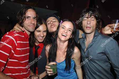 1st Night Curtain Call of 'Fool For Love' at the Apollo Theatre Shaftsbury Ave & After Party at Opium in Dean Street London Juliette Lewis and Her Band the Licks Todd Morse Kemble Walters Jason Womack & Jason Morris