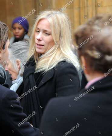 Funeral of Ronnie Driver at St Pauls Church Knightbridge London Ronnies Daughter Film Producer Kate Driver