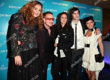 Gala Premiere For 'Across the Universe' at the Apollo Westend Cast - Dana Fuchs Bono Jim Sturgess Julie Taymor T V Carpio