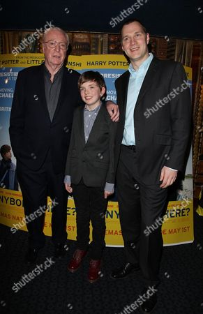 Stock Picture of Gala Premiere of 'Is Anybody There' at the Curzon Mayfair Sir Michael Caine Ben Milner and David Morrissey