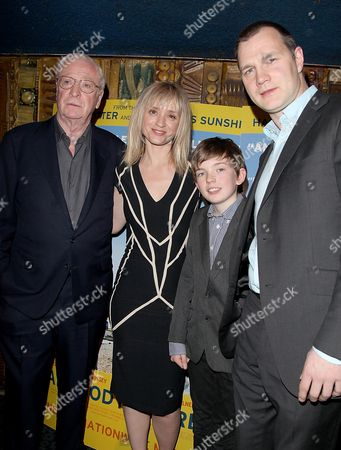 Stock Photo of Gala Premiere of 'Is Anybody There' at the Curzon Mayfair Sir Michael Caine Anne-marie Duff Ben Milner and David Morrissey