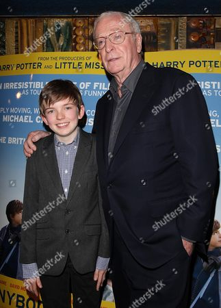 Stock Image of Gala Premiere of 'Is Anybody There' at the Curzon Mayfair Ben Milner and Sir Michael Caine