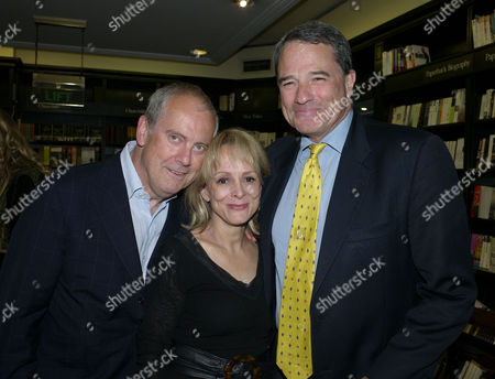 Hatchards Authors of the Year Reception at Hatchards Piccadilly London Gyles Brandreth Clare Francis & Charles Glass