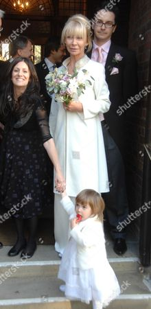 Wedding of Michael Holland & Denise O'donoghue at Chelsea Old Church Old Church Street Chelsea London Denise O'donoghue with Bridesmaid Molly Mulville ( Daughter of Jimmy Mulville Denise's 1st Husband )