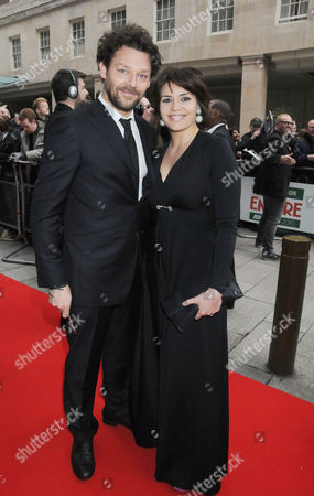 Jameson Empire Film Awards Arrivals and Reception at the Grosvenor House Hotel Richard Coyle with His Wife Georgia Mackenzie