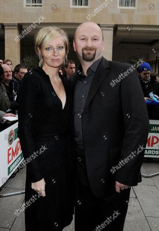 Jameson Empire Film Awards Arrivals and Reception at the Grosvenor House Hotel Neil Marshall with His Wife Axelle Carolyn