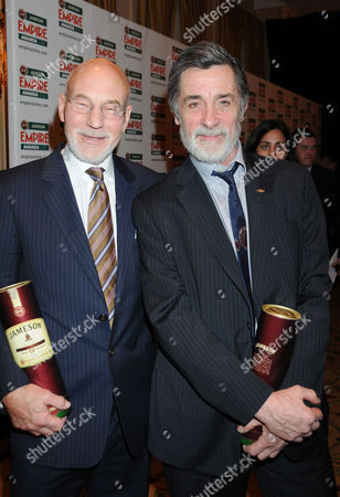 Jameson Empire Film Awards Press Room at the Grosvenor House Hotel Patrick Stewart and Roger Rees