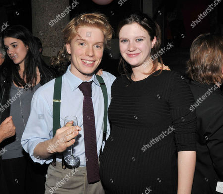 at the Court and Later at the Bar Gala at the Royal Court Theatre Sloane Square Freddie Fox and Rosie Mortimer
