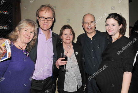 at the Court and Later at the Bar Gala at the Royal Court Theatre Sloane Square Sally Silverman Ross Bentley Penny Mortimer Jeremy Mortimer and Rosie Mortimer