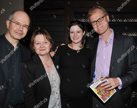 at the Court and Later at the Bar Gala at the Royal Court Theatre Sloane Square Jeremy Mortimer Penny Mortimer Rosie Mortimer and Ross Bentley