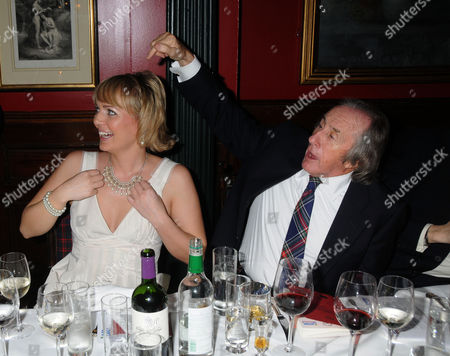 Stock Image of Johnnie Walker Blue Label Great Scot Award 2010 at Boisdale of Belgravia Victoria Isla Traquair and Sir Jackie Stewart