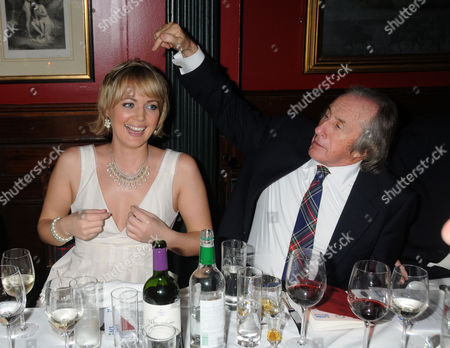 Stock Picture of Johnnie Walker Blue Label Great Scot Award 2010 at Boisdale of Belgravia Victoria Isla Traquair and Sir Jackie Stewart