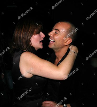 Party at Umbaba Night Club Ganton Street W1 Following Julien Mcdonalds Fashion Show Julien is Congratulated by A Friend