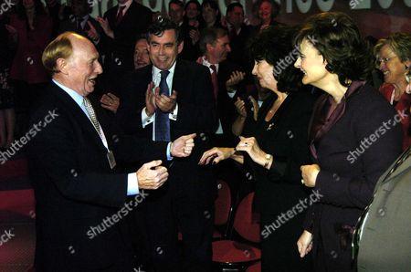 Labour Party Conference at Brighton Tony Blairs Speech Neil Kinnock Gordon Brown Pauline Prescott & Cheri Blair