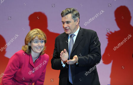 Labour Party Conference at Manchester Central Wednesday Ruth Kelly & Gordon Brown