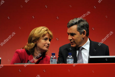 Stock Image of Labour Party Conference at Manchester Central Wednesday Ruth Kelly & Gordon Brown