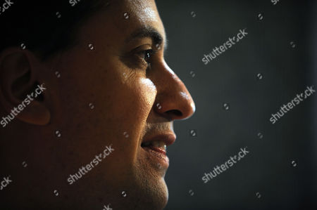 Stock Photo of Labour Party Conference at Brighton West Sussex - Speeches in the Conference Hall Ed Miliband