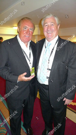 Labour Party Conference at Brighton West Sussex - Sunday Evening Fringe Meetings and Parties Andrew Neil and Geoffrey Robinson at the New Statesman Party at the Thistle Hotel