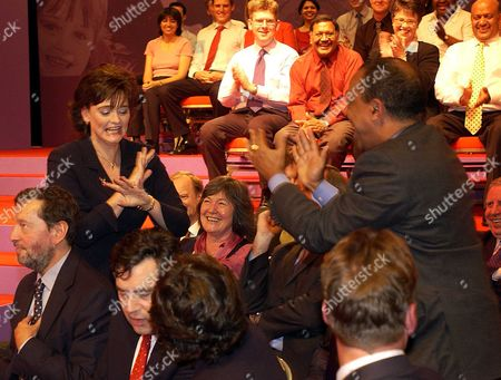 Cherie Blair Greets the Cabinet Members When She Arrives at the Town Hall For the Speech Cherie Blair and Paul Boateng