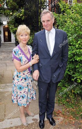 Summer Party Arrivals Richmond Park Jonathan Aitken with His Wife Elizabeth