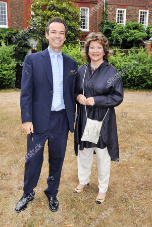 Summer Party Arrivals Richmond Park Lady Ashcombe with Her Son Henry Dent-brocklehurst