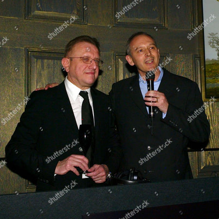 Stock Image of Launch Party For 'Dom Perignon Oenotheque Vintage 1995' at the Langham Hilton Hotel Graham Boyes and Richard Geoffroy