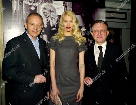 Stock Photo of Launch Party For 'Dom Perignon Oenotheque Vintage 1995' at the Langham Hilton Hotel Graham Boyes Claudia Schiffer and Richard Geoffroy