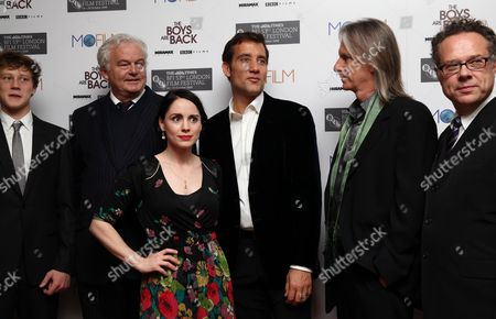 London Film Festival - 'The Boys Are Back' at the Vue Leicester Square Cast; George Mackay Author Simon Carr with Laura Fraser and Clive Owen Director Scott Hicks Producer Greg Brenman