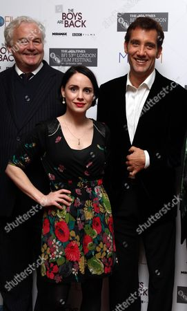 London Film Festival - 'The Boys Are Back' at the Vue Leicester Square Author Simon Carr with Laura Fraser and Clive Owen