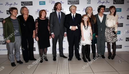 London Film Festival Premiere For 'Bright Star' at the Odeon Leicester Square Jan Chapman Samuel Roukin Boris Johnson Edie Martin Jane Campion Ben Whishaw and Antonia Campbell-hughes