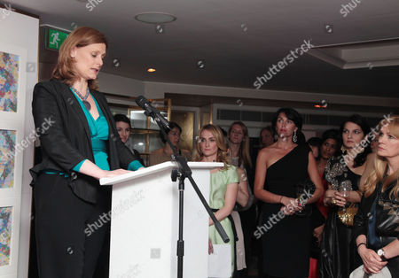 Marie Claire Inspire and Mentor Event in Association with the Prince's Trust at the Loft the Ivy Club Sarah Brown Makes Her Speech with Trish Halpin (editor of Marie Claire) Anastasia Webster and Yasmin Mills in the Background