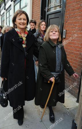 Mayoral Debate at Cadogan Hall Chelsea London Rachel Billington & Mrs Stanley Johnson ( Boris's Mother)