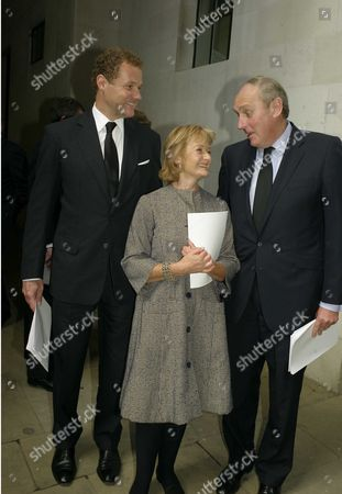 Stock Image of Lord Jonathan Rothermere Lady Camilla Dempster & Paul Dacre