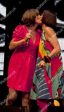 Music at Vintage at Goodwood Festival First Day at Goodwood House Chichester West Sussex Sandie Shaw & Corinne Drewery