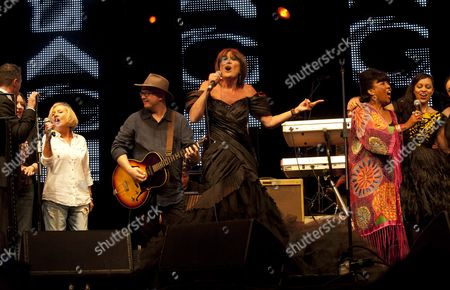 Stock Image of Music at Vintage at Goodwood Festival First Day at Goodwood House Chichester West Sussex Sandie Shaw Linda Lewis Tahita Bulmer Sandi Thom Natasha Marsh Mica Paris and Corinne Drewery