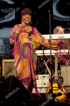 Stock Picture of Music at Vintage at Goodwood Festival First Day at Goodwood House Chichester West Sussex Linda Lewis