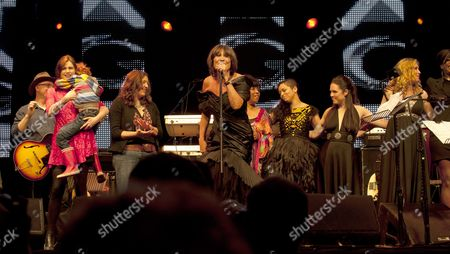 Stock Photo of Music at Vintage at Goodwood Festival First Day at Goodwood House Chichester West Sussex Sandie Shaw Linda Lewis Tahita Bulmer Sandi Thom Natasha Marsh Mica Paris and Corinne Drewery