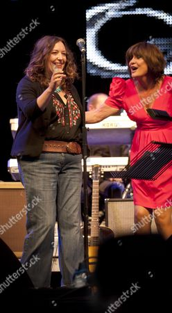 Music at Vintage at Goodwood Festival First Day at Goodwood House Chichester West Sussex Kathryn Williams & Sandie Shaw