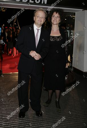 Stock Photo of 15 10 2008 Opening Night Gala of the 52nd London Film Festival' with the 'Frost Nixon' at the Odeon Leicester Square Toby Jones with His Partner Karen