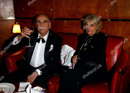 Opening Night Party For 'Death of A Salesman' at the Atlantic Bar and Grill Warren Mitchell with His Wife Connie