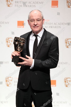 Stock Picture of Orange 2010 British Academy Film Awards Press Room at the Royal Opera House Covent Garden Barry Ackroyd Winner of Best Cinematography For 'The Hurt Locker'