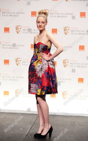 Stock Picture of Orange 2010 British Academy Film Awards Press Room at the Royal Opera House Covent Garden Ramola Garai Presenter of Best Hair and Makeup