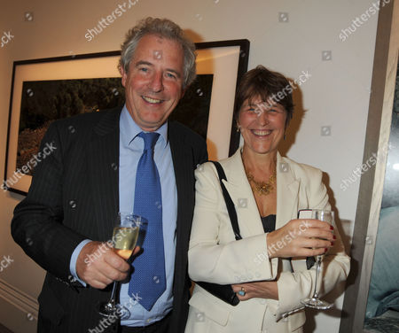 Book Party For 'Masters and Commanders' at Sotheby's Bond Street Lord William Waldegrave and Lady Caroline Waldegrave