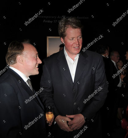 Party For Andrew Roberts's New Book 'Masters and Commanders' at Sotheby's Bond Street Earl Charles Spencer and Andrew Roberts