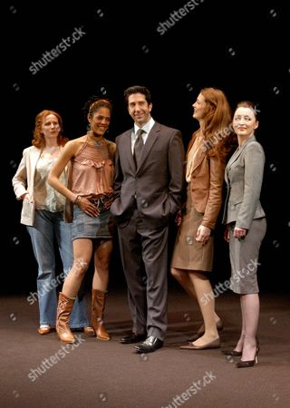 Photocall For 'Some Girl(s)' at the Gielgud Theatre Catherine Tate Sara Powell David Schwimmer Saffron Burrows and Lesley Manville