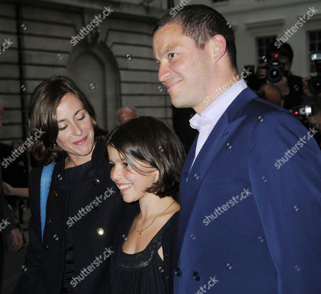Premiere of 'Creation' at the Curzon Cinema Mayfair Dominic West with His Partner Polly Astor and Daughter Martha West