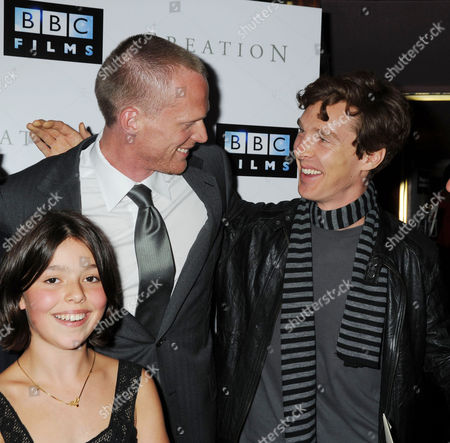 Premiere of 'Creation' at the Curzon Cinema Mayfair Martha West Paul Bettany and Benedict Cumberbatch