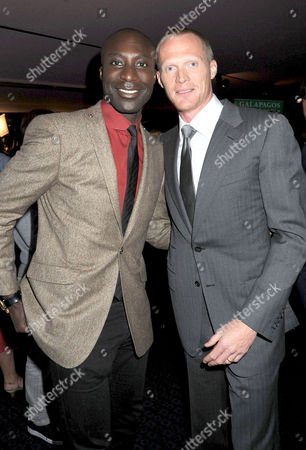 Premiere of 'Creation' at the Curzon Cinema Mayfair Oswald Boateng and Paul Bettany